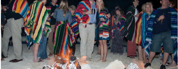 Beach Bonfire Welcome Party ~ A La Mexico